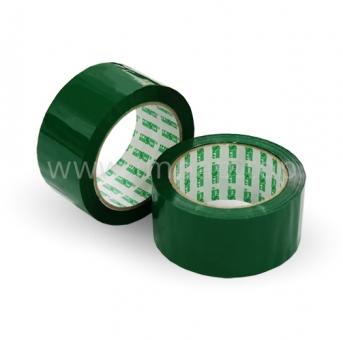 Цветная клейкая лента упаковочная Crystal 48 мм / 100 яр. (зеленый скотч)