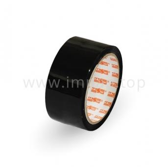 Чёрная клейкая лента упаковочная Crystal  48 мм / 66 яр.