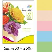 Набор цветной бумаги Spectra Color (пастель IT 82T) А4 80 г/м2 - 250л.