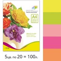 Набор цветной бумаги Spectra Color (неон IT 82O) для печати и копирования А4 75 г/м2 - 100л.