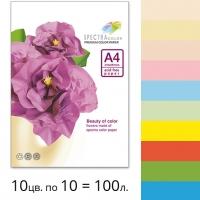 Набор плотной двусторонней цветной бумаги Spectra Color (супер микс IT 85B) А4 160 г/м2 - 100л.