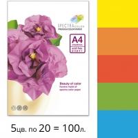 Набор плотной двусторонней цветной бумаги Spectra Color (интенсив IT 82A) А4 160 г/м2 - 100л.