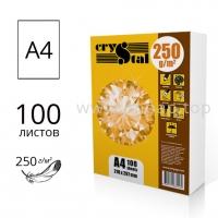 Плотная бумага CRYSTAL А4 250г/м2 - пачка 100 листов