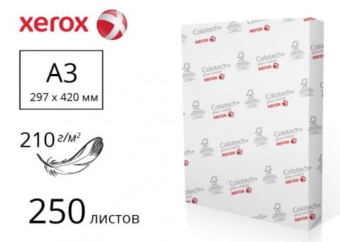 Бумага Colotech+ Gloss для печати с двусторонним покрытием А3 75%, 210 м/г2, 250 л. - 003R90346