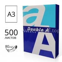 Бумага Double A формата А3 80г/м2 для черчения и рисования - 500 листов