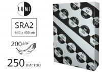 Мелованная бумага LUMI Silk с матовым покрытием SRA2, 200 г/м2 - 250 листов