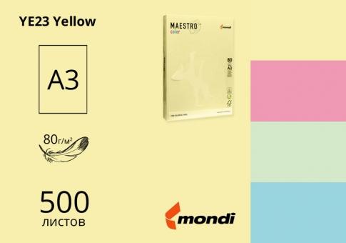 Цветная бумaга А3 80г/м2 (пастель) Maestro Color - 500 листов