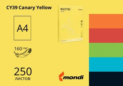 Цветная бумaга А4 160г/м2 (интенсив) Maestro Color - 250 листов