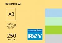 Цветная бумaга REY Adagio А3 (средние тона) 160 г/м2 - 250 листов