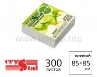 Бумажные блок для записей Crystal ECO  85х85мм (белая, клееная) - 300 листов