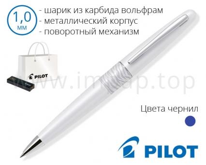 Ручка шариковая металлическая подарочная Pilot BP-MR2-M-WTG в футляре (Ø шарика 1мм)