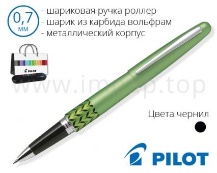 Ручка роллер шариковая черная подарочная Pilot BLV-BMR37-MB-B-E в футляре (Ø шарика 0,7мм)