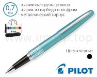 Ручка роллер шариковая черная подарочная Pilot BLV-BMR37-DT-B-E в футляре (Ø шарика 0,7мм)