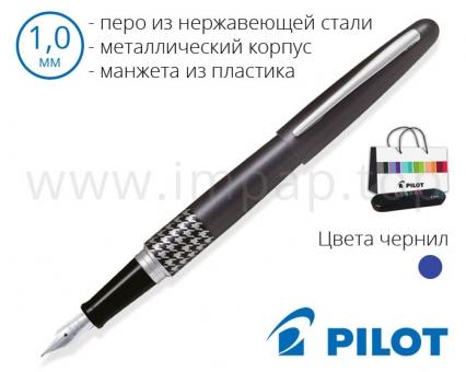 Ручка перьевая в металлическом корпусе Pilot FD-MR3-M-HT-E для подарка (толщина пера 1,0мм)