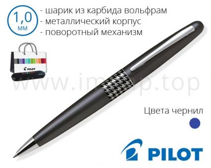 Ручка шариковая автоматическая металлическая Pilot BP-MR3-M-HT-E для подарка (Ø 1мм)