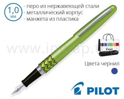 Ручка перьевая в металлическом корпусе Pilot FD-MR3-M-MB-L-E для подарка (толщина пера 1,0мм)