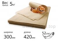 """Подпергамент """"П"""" в листах для упаковки пищевых продуктов 52г/м2 - 300х420мм - 5кг."""