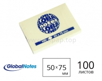 Бумaга для записей с липким краем Global Notes 50x75 мм - 100 листов