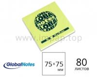 Бумажный блок для замeток с клеевым краем Global Notes 75x75 мм (на выбор 4 цвета) - 80 листов