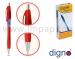 Ручка шариковая автоматическая масляная DIGNO ARK CX TNT (синяя, черная, красная)