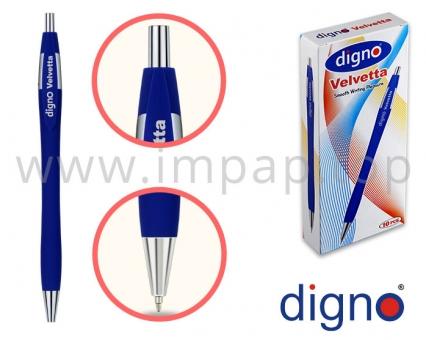 Ручка шариковая масляная  автоматическая (черная, синяя) DIGNO VELVETTA