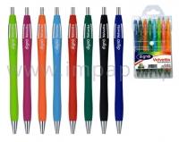 Набор цветных масляных шариковых автоматических ручек DIGNO VELVETTA  - 8 цветов