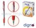 Ручка шариковая автоматическая масляная DIGNO COMFY TROP (синяя, черная, красная, зеленая)