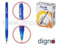 Ручка шариковая автоматическая масляная DIGNO COMFY TRСOP (синяя, черная, красная, зеленая)