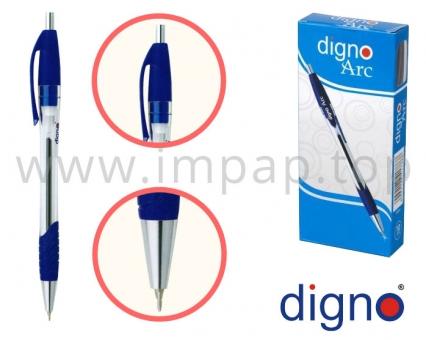 Ручка шариковая автоматическая масляная DIGNO ARC TROPC для письма (синяя, черная)