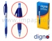 Ручка шариковая автоматическая масляная DIGNO MYKRA для школы (синяя, черная)