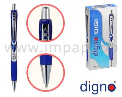Ручка шариковая масляная автоматическая (синяя, черная) DIGNO DIGI