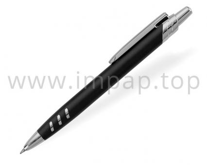 Ручка шариковая металлическая автоматическая DIGNO STARK MRC с масляными синими чернилами