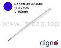 Стержень к металлическим подарочным ручкам DIGNO (масляная, гелевая основа)
