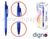 Ручка шариковая автоматическая DIGNO TICKER TRСOP (фиолетовая, синяя, черная, красная, зеленая)