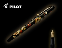 Ручка подарочная перьевая Pilot NAMIKI Tradition Flower Basket с золотым пером